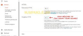 blogger atau blogspot mengaktifkan https di blogger atau blogspot pada custom domain