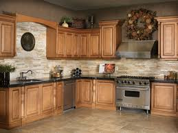 kitchen stacked stone backsplash faux brick wall tiles veneer red