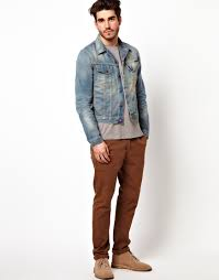 Light Jean Jacket Nudie Jeans Denim Jacket Perry Light Worn Wash In Blue For Men Lyst