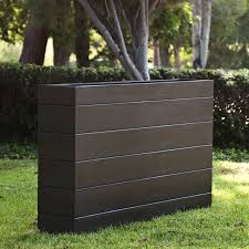 Cheap Tall Planters by Madera Rectangle Planter Boxes Outdoor Planters With Faux Wood Finish