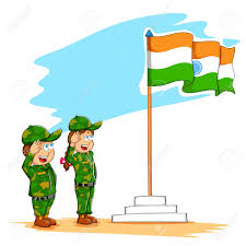 Indian National Flag Hoisting Kids With Indian Flag Clipart Clipground