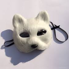 halloween disguise cosplay fox cat mask animal masks masquerade party