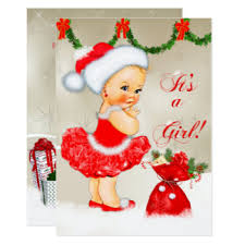Christmas Baby Shower Invitations - vintage christmas baby shower invitations u0026 announcements zazzle