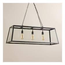 world market pendant light deal of the day rectangular 4 sided glass pendant l at world