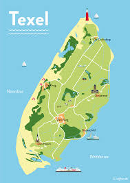 Blossom Music Center Map Illustrated Map Of Texel By Stijlbende Map Illustration Island