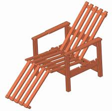 regina tall wood deck chair plans