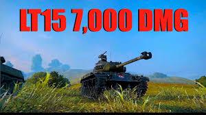 wot lt15 mission 7 000 damage world of tanks youtube