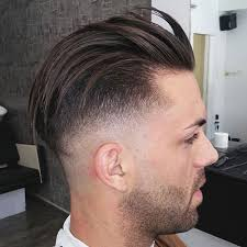 photo of the back of hair with a short bob slicked back undercut hairstyle 2018