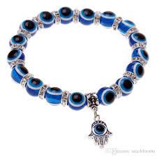 evil eye beads bracelet images 2018 hot sale jewelry blue evil eye beads silver shambhala hamsa jpg