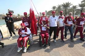 Picture Of Qatar Flag Qatar Olympic Committee Organise Flag Relay To Celebrate Country U0027s