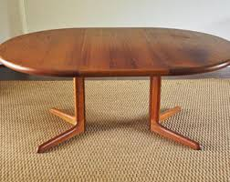 Teak Dining Table Etsy - Danish teak dining room table and chairs