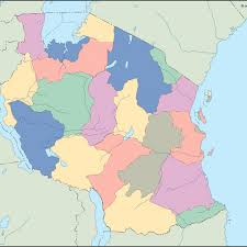 Tanzania Map Tanzania Blind Map Vector Eps Maps Eps Illustrator Map Our