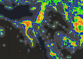 Light Polution Map Light Pollution Around The World Brilliant Maps
