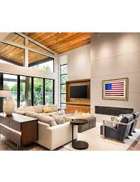 american flag vintage framed art giclee prints for home wall art