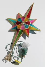 Star Christmas Tree Toppers Lighted - 80s 90s vintage christmas tree topper ornament lighted star