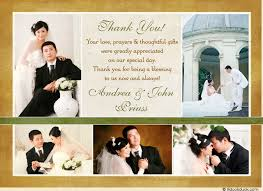 wedding thank you postcards gold ivory wedding thank you cards five photo