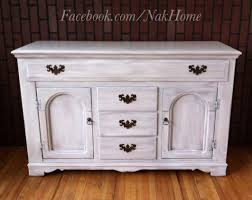 Kitchen Console Cabinet Furniture Makeover Shabby Chic White Vintage Buffet Tv Console