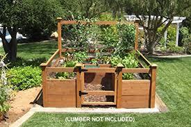 amazon com just add lumber vegetable garden kit 8 u0027x8 u0027 deluxe