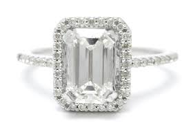 vintage style engagement rings emerald cut antique style diamond engagement ring e12