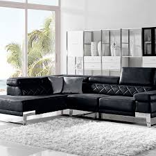 Black Fabric Sectional Sofas Arden Modern Black Fabric Sectional Sofa W Left Facing Chaise