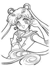 sailor moon coloring pages usagi tsukino coloringstar