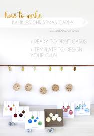 how to make cards with baubles free printables es