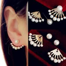 earrings on top of ear top quality fashion european and american small imitation pearl