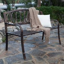 Outdoor Garden Bench Coral Coast Verona 4 Ft Curved Back Garden Bench Antique Gold