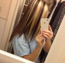 blonde hair with chunky highlights chunky blonde highlights on dark hair pictures trendy hairstyles