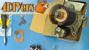 diy how to rebuild a starter motor youtube