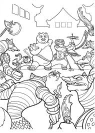 kung fu panda monkey coloring pages the dragon warrior and the furious five were out numbered in kung fu