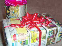 comic wrapping paper gift wrapping alternatives eartheasy solutions for