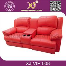 Theater Sofa Recliner Real Leather Electric Home Recliner Cinema Chair Comfortable