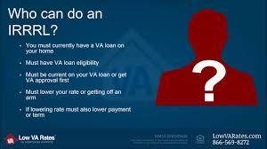 va arm loan va irrrl program 844 326 3305 irrrl program