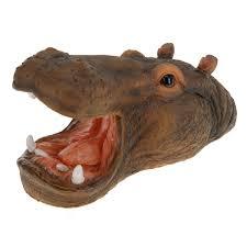 animaux resine jardin tête d u0027animaux pour décoration de jardin 29cm hippopotame