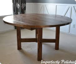 Round Kitchen Tables Best 25 Rustic Round Dining Table Ideas On Pinterest Round
