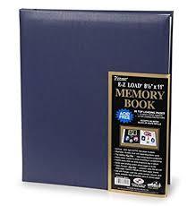 pioneer e z load 8 5 x 11 memory book blue arts