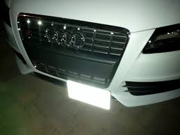 audi q7 front license plate bracket hideaway plate b8 s4 install