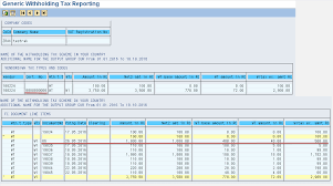 withholding tax table 2016 withholding tax report for filling tax returns sap concept hub