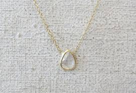rose necklace diamond images Rose cut diamond necklace pear shape sarah perlis jewelry jpg