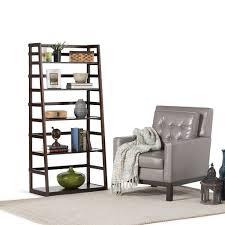 Sauder 5 Shelf Bookcase by Best Leaning Ladder Style Bookshelf U0026 Bookcase Reviews