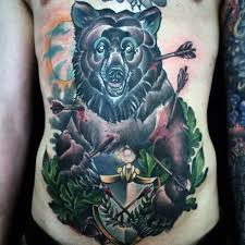 69 fantastic traditional bear tattoo designs made with classy