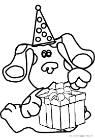blue u0027s clues color cartoon characters coloring pages color