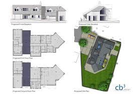 side split floor plans new build split level house cb3 design architects