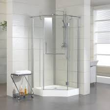 awesome bathroom decorating with neo angle shower for your home