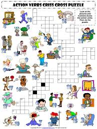 action verbs 1 worksheet criss cross puzzle pdf