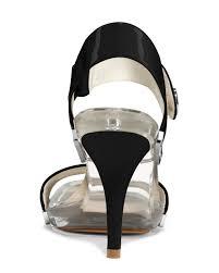 lyst michael kors michael lani clear sandal in black