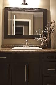 Wall Mirrors For Bathroom Vanities by Dark Brown Bathroom Mirrors Home