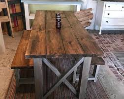 Rustic Farmhouse Dining Table And Chairs Rustic Dining Table Etsy