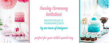 Decoration Ideas For Naming Ceremony Cococards Personalised Naming Ceremony Invitations